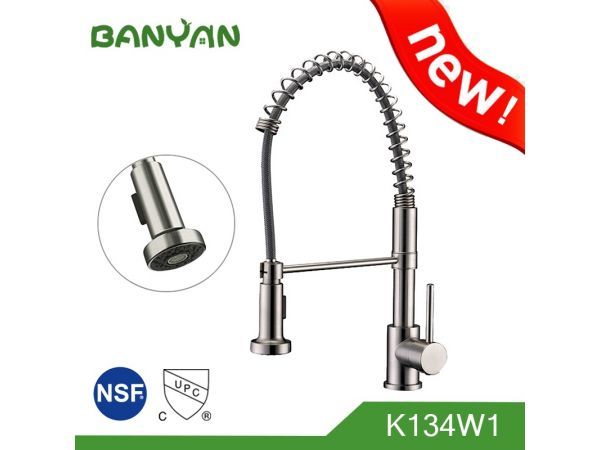 UPC pull down kitchen faucet