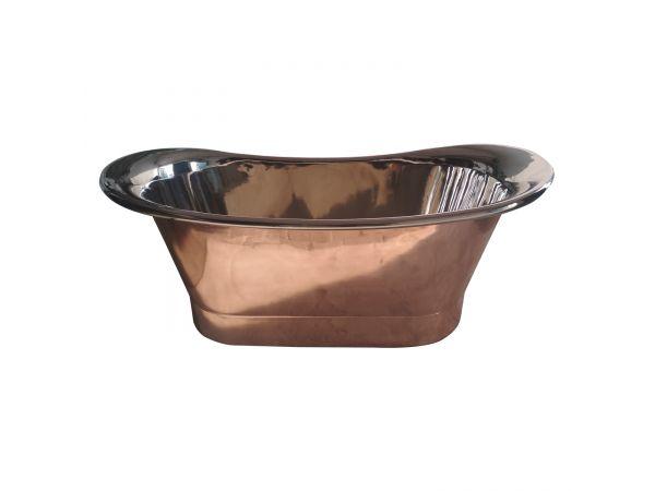 Straight Base Copper Bathtub Nickel Inside Big Size 74x28x28