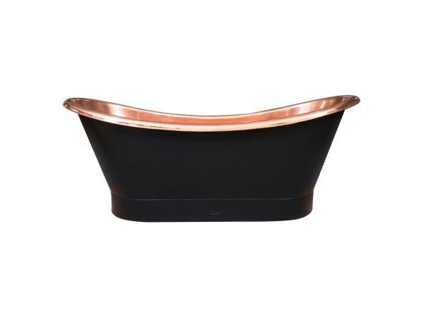 Roll Top Copper Bathtub Inside Polish Copper Outside Black