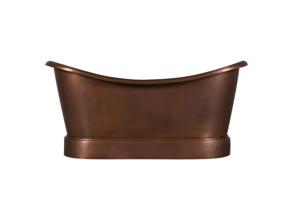 Smooth Double Slipper Copper Bathtub