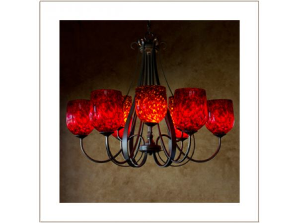 9-Light Sweeping Taper Chandelier
