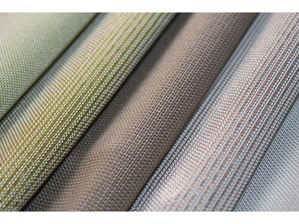 Flame Retardant Teslin + Metallic Blind and Wall Fabrics