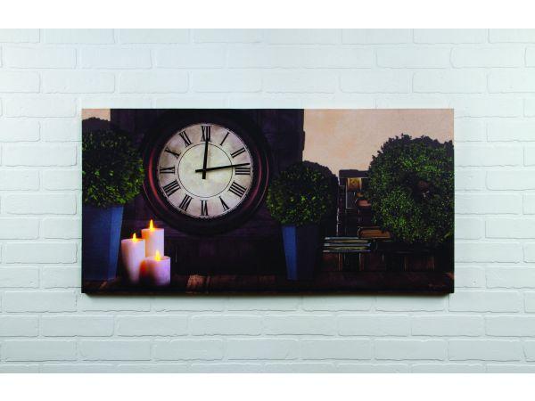 Lighted Clock Canvas