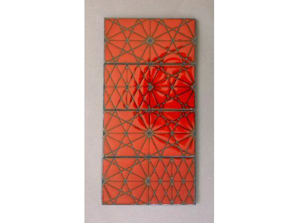 KISMET ANDROMEDA ceramic tile in FIRE ENGINE glaze
