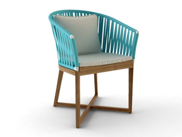 Turquoise Curved Strap Chair
