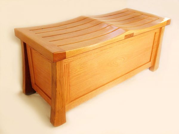Venice Chest, solid white oak trunk
