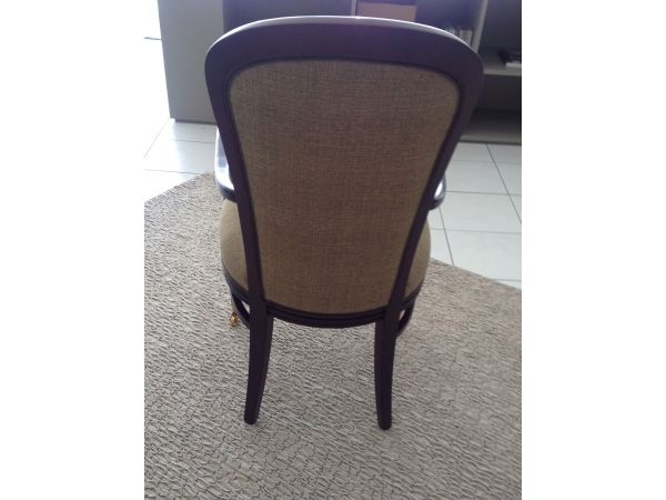reeded wood dining restaurant chair