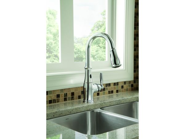 Moen Brantford pulldown kitchen faucet with MotionSense
