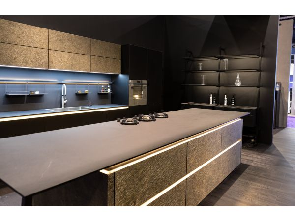Bauformat Kitchen with large island and lighted storage
