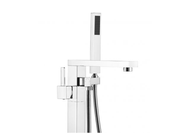 Navona Floor Mounted Tub Filler Faucet with Hand Shower