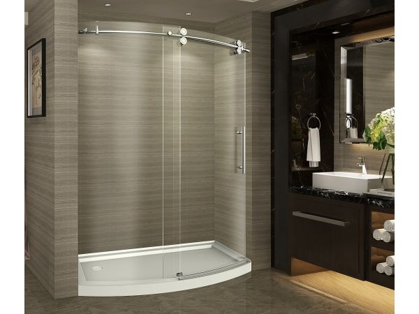 Aston ZenArch Completely Frameless Bowfront Sliding Shower Door