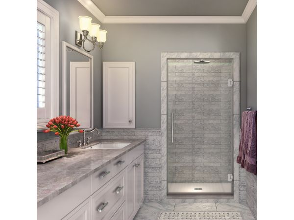 Aston Kinkade Completely Frameless Hinged Shower Door