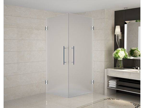 Aston Vanora Completely Frameless Dual-Door Square Shower Enclosure