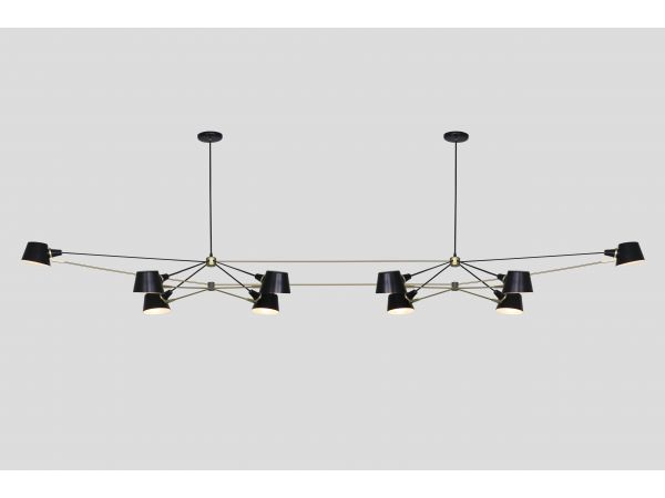 Double Pivot Chandelier