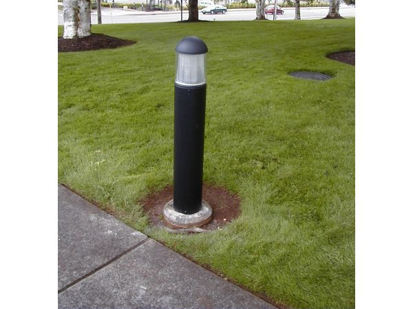 15w USA LED Round Dome Top Bollards with Type 5 Glass 120v-277v – 147,000-Hour Life
