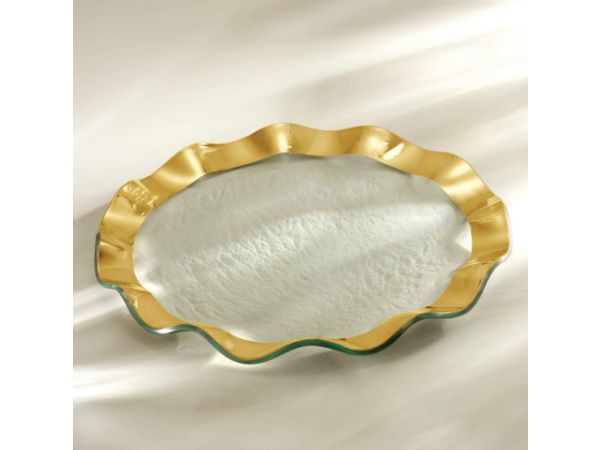 Annieglass Ruffle Dinner Plate