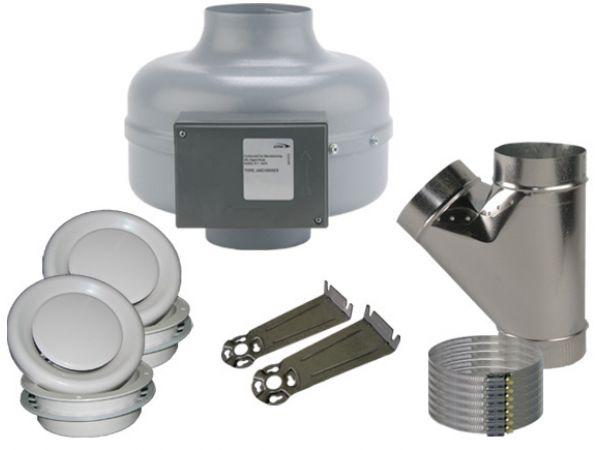 Adjustable Grille Bathroom Ventilation Kits