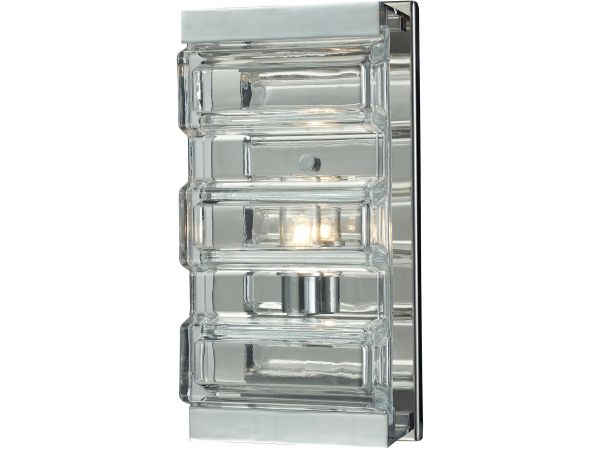 Corrugated glass sconce