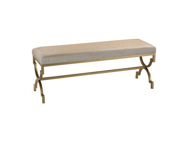 180-003 - Double Bench in Cream Linen