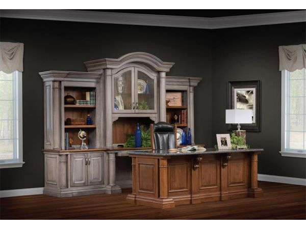 Amish Paris Credenza with Optional Three-Piece Hutch Top