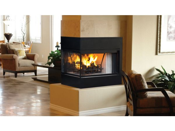 Astria Monterey Peninsula wood-burning fireplace