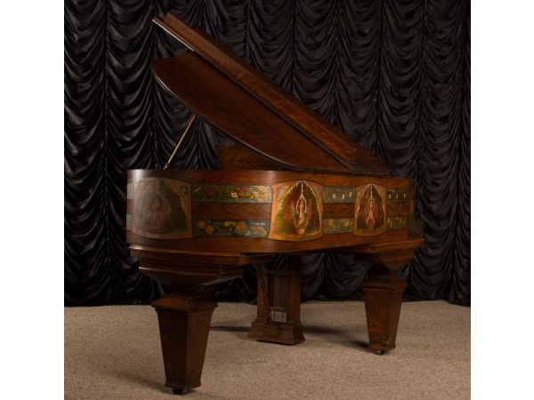 Original Mission Style Oak Gerhard Heintzman Grand Piano