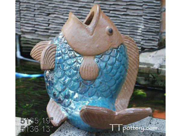 5136 - Set of 1 - 14W x 13L x 13H - Fish