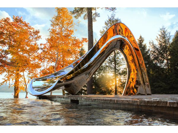 Water Slide - Luxury Sculptural Slide by Splinterworks