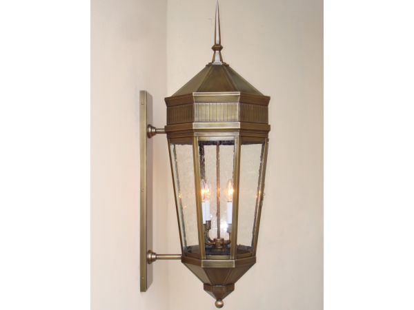 Custom designed wall mounted lantern