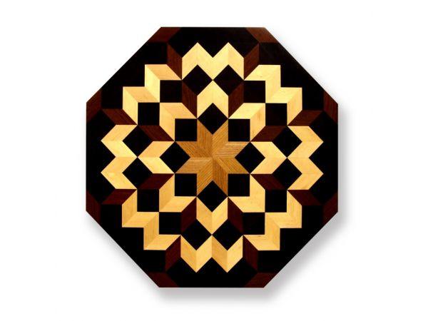 Octagon Wood Floor Medallion 36″ MO009