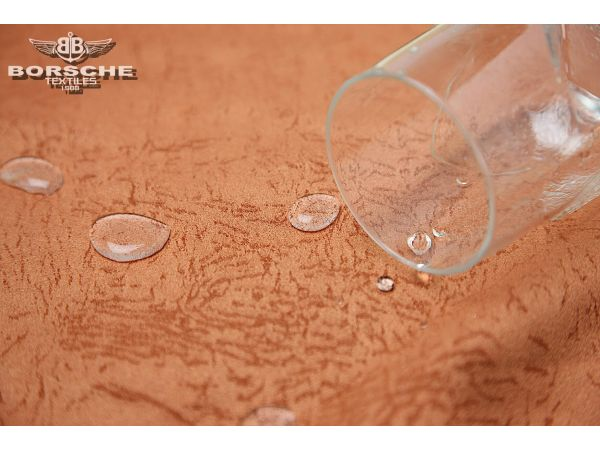 Micro fiber jacquard suede fabric with water repellent 25T-0377