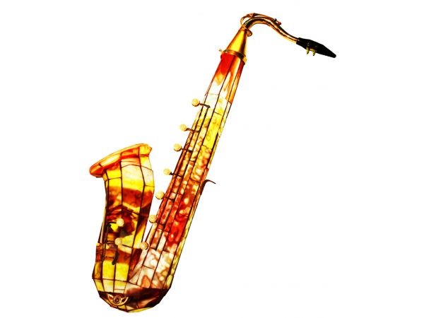 Stained Glass Illuminated Saxophone