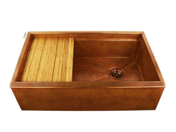 Legacy Copper Sink - Apron Front - Under Mount