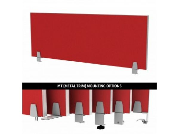 Metal Trim Desk Divider Enclave Panels | Merge Works