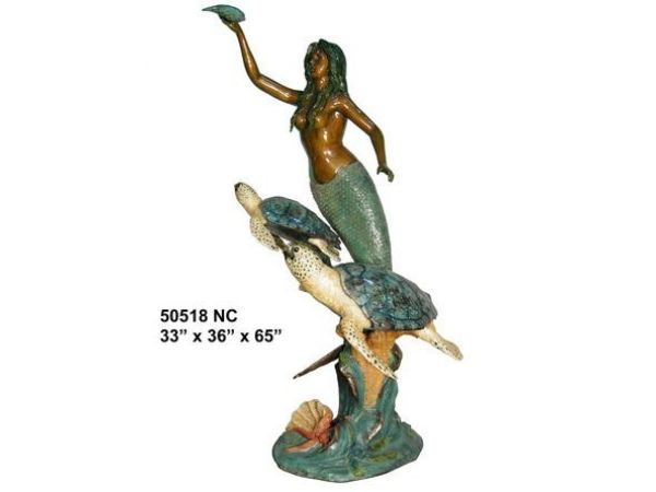 Bronze Mermaid Fountains
