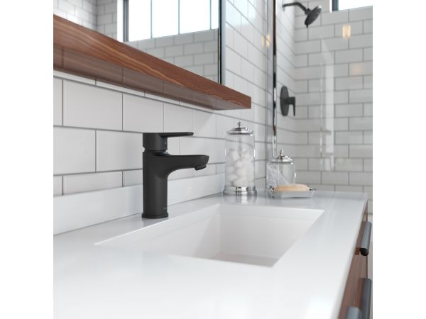 Pfirst Modern Single-Control Bathroom Faucet in Matte Black