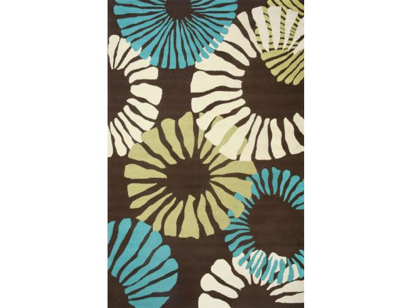 Sawgrass Mills by Hatteras Outdoors Fruit Cocktail Choco Eclair Outdoor Rug