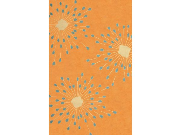 Sawgrass Mills by Hatteras Outdoors Sparkler Autumn Pumpkin Outdoor Rug