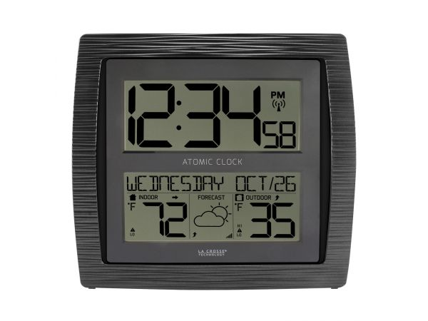 Atomic Clock & Weather Station with Indoor/Outdoor Temperature & Forecast