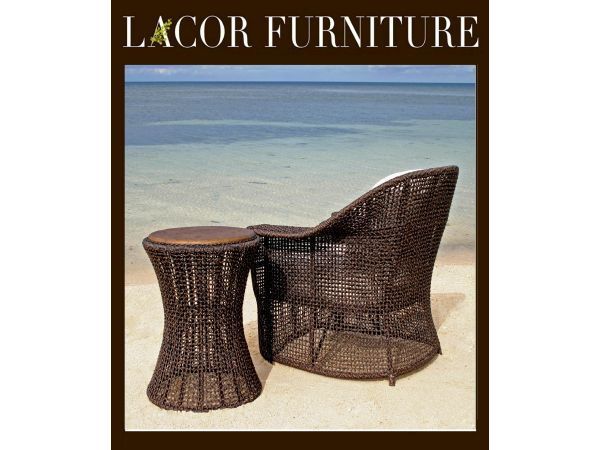 LaCor All Weather Dominic Lounge Chair & Side Table