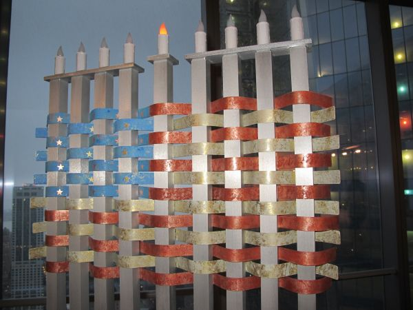 9/11 Solidarity Hanukkah Menorah