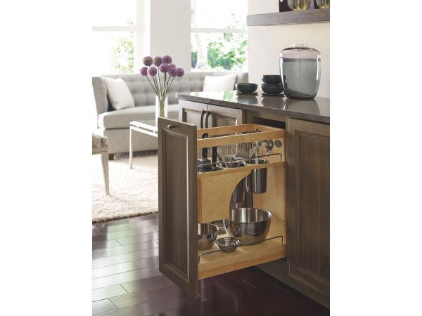 Omega Cabinetry Base Utensil Pullout with Self-Healing Knife Block