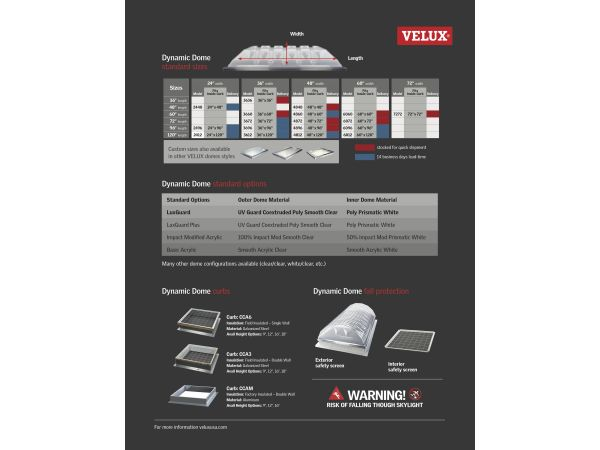 VELUX Dynamic Dome Commercial Skylights