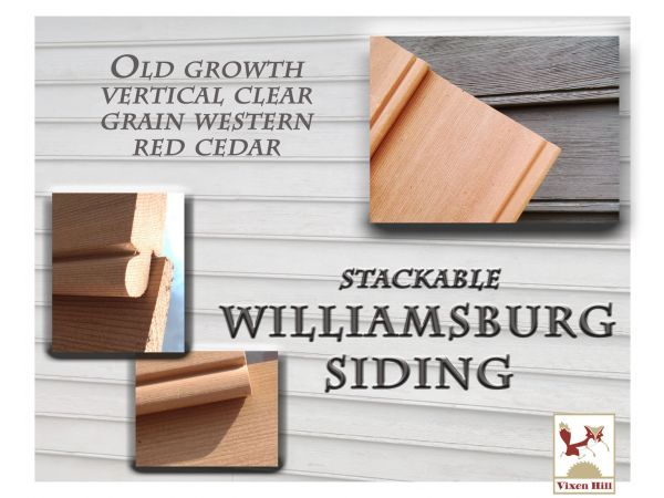 Stackable Williamsburg Cedar Siding