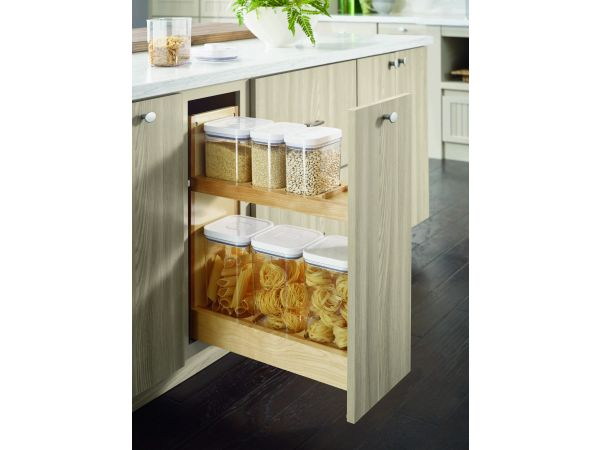 Diamond Base Container Organizer Pantry Pullout Cabinet