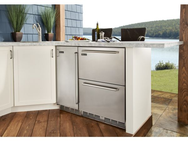 Perlick Outdoor 24 Dual-Zone Refrigerator/Freezer Drawers