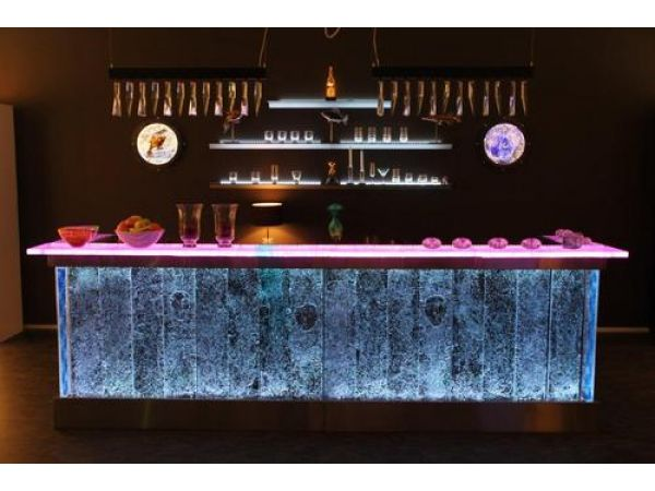 Kjell Engman-designed glass bar
