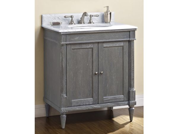 Rustic Chic 30 Vanity - Silvered Oak