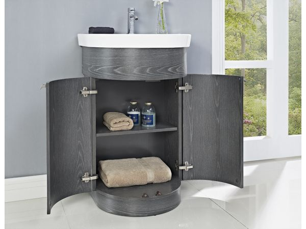 Boulevard 24 Vanity and Sink Set - Charcoal Gray