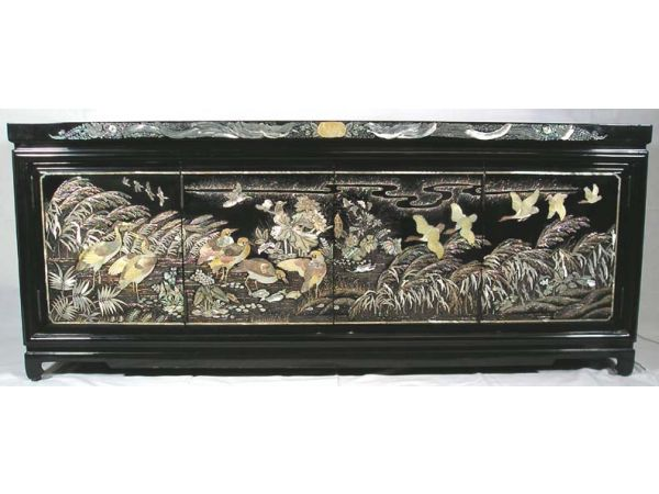 Vintage Korean Mother of Pearl Chest.